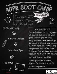 ADPR bootcamp flyer