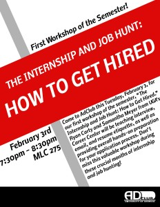 how to get hired flyer